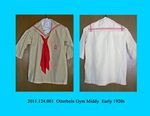 Gym Outfit: Middy, Cream & Red, Red Tie by 124