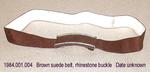 Belt, Brown, Rhinestones by 001