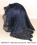 Veil, Black Mourning, Lace by 008