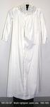 Nightgown, White Muslin, Long Sleeve, High Neck, Eyelet Yoke by 008