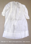 Dress, Baby, White Batiste, Long Sleeve, Lace/Tucks by 008