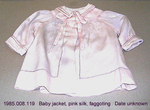 Jacket, Baby, Pink Silk, Fagotting, Peter Pan Collar by 008