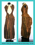 Dress, 3 Piece, Brown/Gold, Vest, Bustle, Sleeves Missing, Poor by 008