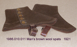 Spats, Male, Brown Melton Wool by 010