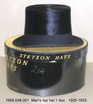 Hat, Male, Top, Black Beaver, Grosgrain Band+Box by 048