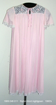 Nightgown, Short, Pink Nylon Tricot, Bell Sleeves by 048