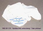 Handkerchief, Cream, Colored Applique by 061