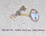 Jewelry, Male, Cufflink, Lock & Key, Pearl, Gold by 061