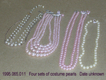 Jewelry, Costume, 4 Pearl Necklaces by 065