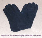 Gloves, 3 Black, 1 White Fabric, B by 065