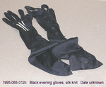 Gloves, 3 Black, 1 White Fabric, C by 065