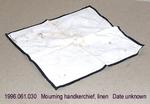 Handkerchief, Mourning, Linen, Black Border by 061