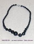 "Jewelry, Jet Bead Necklace, Graded, 17"" by 085"