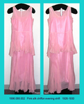 Dress, Evening Shift, Pink Chiffon, Sleeveless, Bias Godets by 088