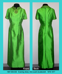 Dress, Evening, Lime Surah Doublecloth, Jeweled Neckline by 064