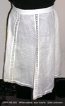 Apron, White Batiste, Lace Inserts by 109