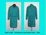 Dress, Teal Blouson Dressmaker by 112