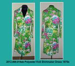 Dress, Knit, Dressmaker, Sash, Bright Flowered Print by 069