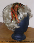 Headband, Orange, Lime, Brown Feathers by 069