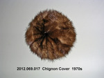 """Fur Cover for Hair """"Bun,"""" Tan Colored by 069"""