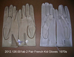 Gloves, 2 Pairs, 1 Button, Beige Kid, 1 New, 1 Slightly Worn, French by 126