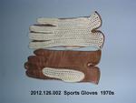 Gloves, Sports, Parisian, Tan Leather Palms, String Knit Backs by 126