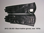 Gloves, Black Leather, New by 126