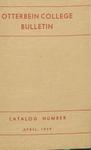 1938-1939 Otterbein College Bulletin
