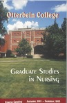 2001-2003 Otterbein College Graduate Studies in Nursing Course Catalog