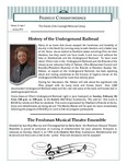 2013 Spring - Friendly Correspondence Newsletter