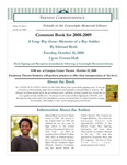 2008 Fall - Friendly Correspondence Newsletter