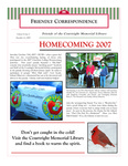 2007 Winter - Friendly Correspondence Newsletter