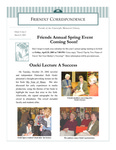 2003 Spring - Friendly Correspondence Newsletter