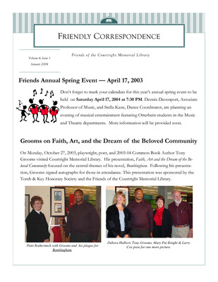 Friends of the Library | Library - Courtright Memorial