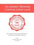 2016 Otterbein University Academic Honors Convocation Program by Otterbein University