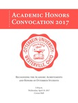 2017 Otterbein University Academic Honors Convocation Program