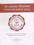 2019 Otterbein University Academic Honors Convocation 2019