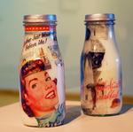 Bessy's Milk, Two Bottles by Evelyn Davis-Walker