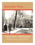 2015 50th Reunion Memory Book (Class of 1965)