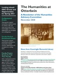 November 2020 The Humanities at Otterbein: A newsletter of the Humanities Advisory Committee by Humanities Advisory Committee