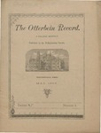 The Otterbein Record May 1885