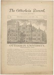 The Otterbein Record January 1883 by Archives