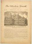 The Otterbein Record April 1883 by Archives
