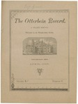 The Otterbein Record April 1885 by Archives