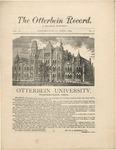 The Otterbein Record April 1884