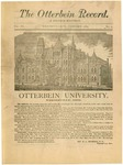 The Otterbein Record January 1884