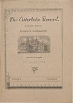 The Otterbein Record November 1884