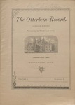 The Otterbein Record September 1884