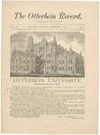 The Otterbein Record October 1883