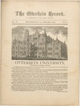 The Otterbein Record January 1882